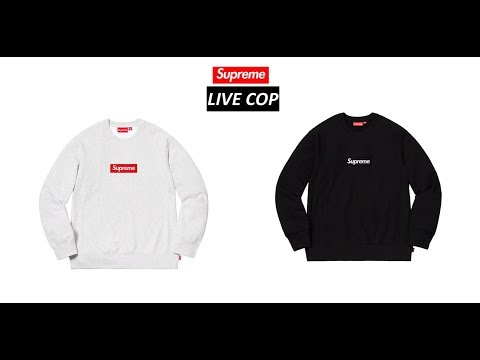 SUPREME FW18 WEEK 16 LIVE COP (MANUAL CHECKOUT) | SUPREME BOX LOGO CREWNECK