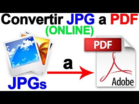 Como Convertir JPG A PDF (Online) PASO A PASO - Tutorial CHVERE