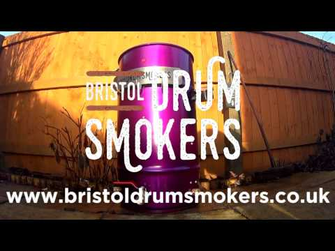 Lighting the baby Smoker - Bristol Drum Smokers