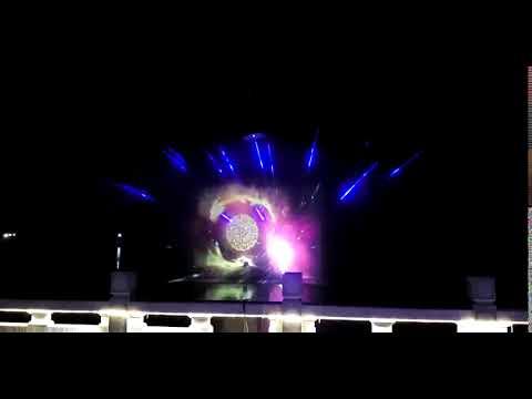 water screen laser show 3