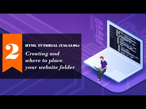 TAGALOG HTML TUTORIAL 1 - Creating and where to place your website folder. thumbnail