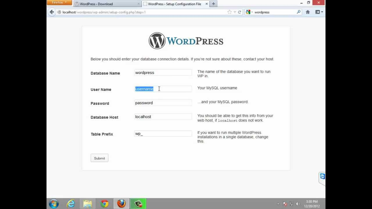 how to install wordpress in appserv