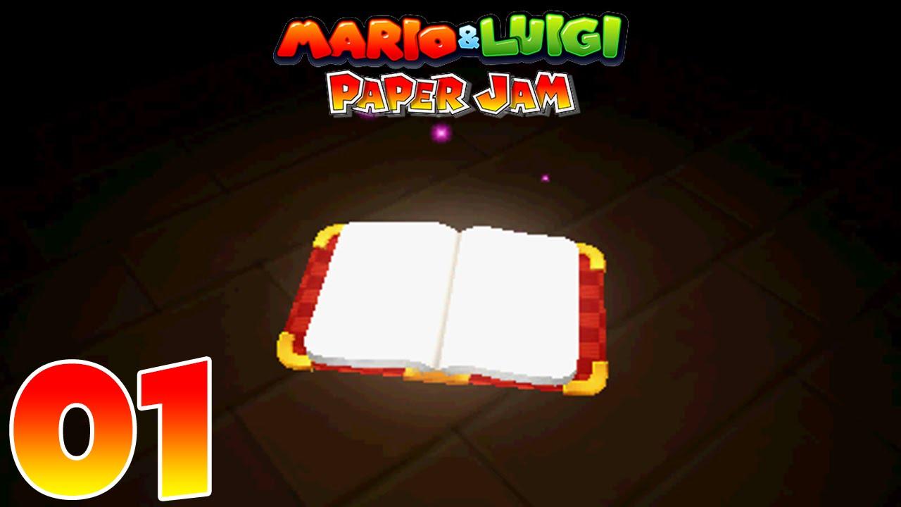 mario luigi paper jam episode 1 the book youtube