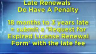 Late License Renewals Tdlr