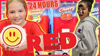 vuclip EATING ONLY RED FOOD FOR 24 HOURS | SISTER FOREVER