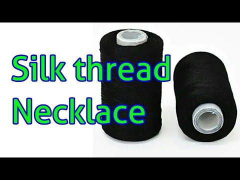 silk thread necklace // Diy jewellery // handmade jewellery // silk thread jewellery