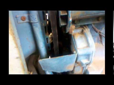 ford tractor fan belt youtube