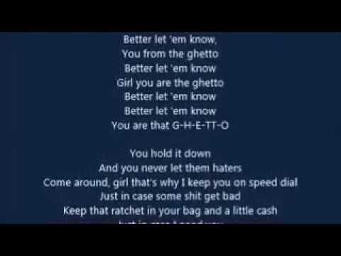August Alsina - Ghetto (feat. Rich Homie Quan) (LYRICS)