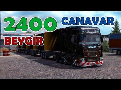 2400 BEYGİR TIR !! YERİNDE DURMUYOR | Euro Truck Simulator 2