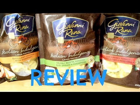 Giovanni Rana ravioli review by Amy and Garry