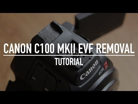 Removing the Canon C100 MKii EVF / Viewfinder
