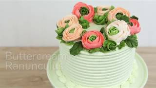 How to Make Buttercream Ranunculus | Global Sugar Art