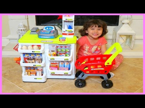 Toys HOME SUPERMARKET Play Pretend GROCERY SHOPPING | itsplaytime612