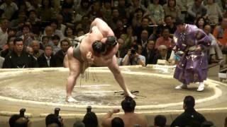 20100509 大相撲5月場所初日琴欧洲VS豊ノ島.