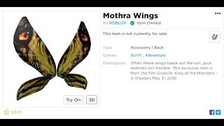HOW TO GET THE MOTHRA WINGS - ROBLOX NEW PROMOCODE!