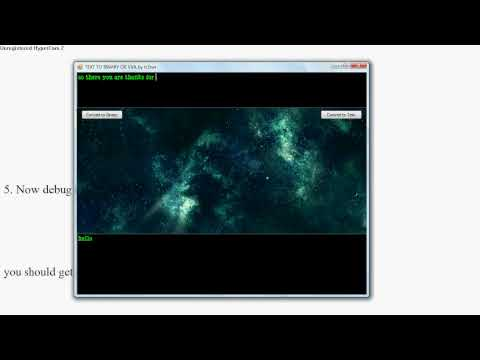 how to make a visual basic text to binary code converter