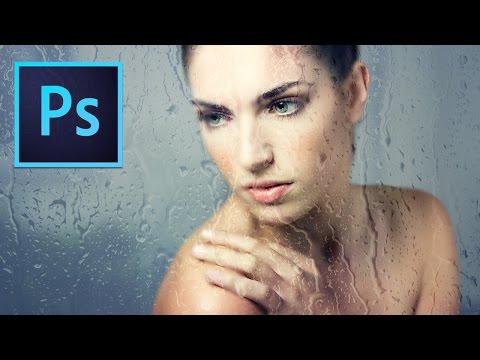 Photoshop Tutorial : Wet Glass Photo Effects thumbnail