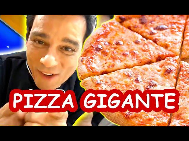 PIZZA GIGANTE - OLHA SÓ COMO FIZ!!!