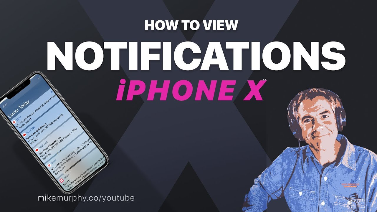 How to View Notifications on iPhone X