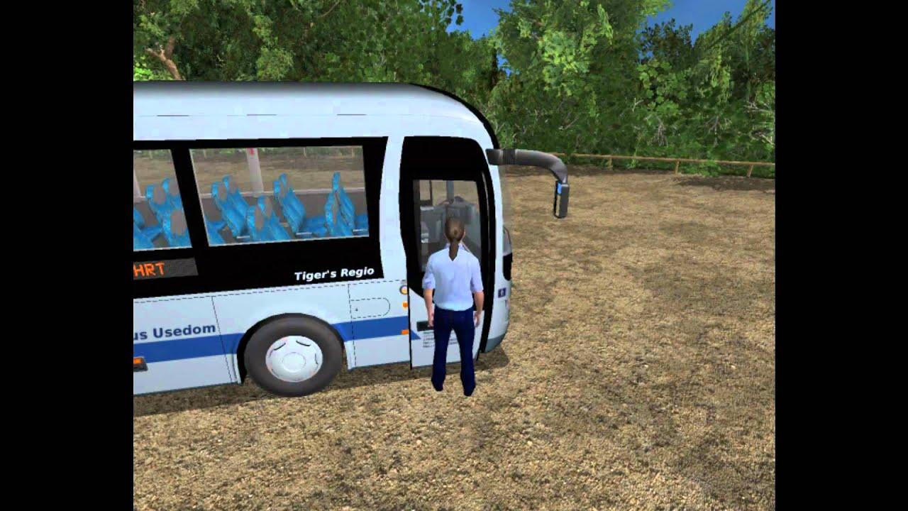 city bus simulator regiobus usedum koserow - YouTube