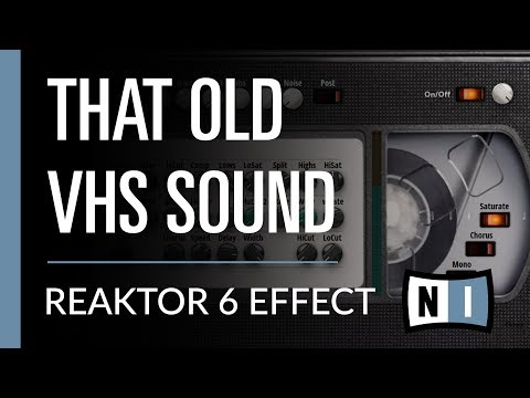 Getting That Old VHS Tape 80's Sound