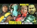 Who Roasts & Insults An Unmasked Scorpion the Best? (Relationship Banter Intro Dialogues) MK 11