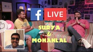 Surya joins Mohanlal Live | Facebook | Kaappaan | Lucifer
