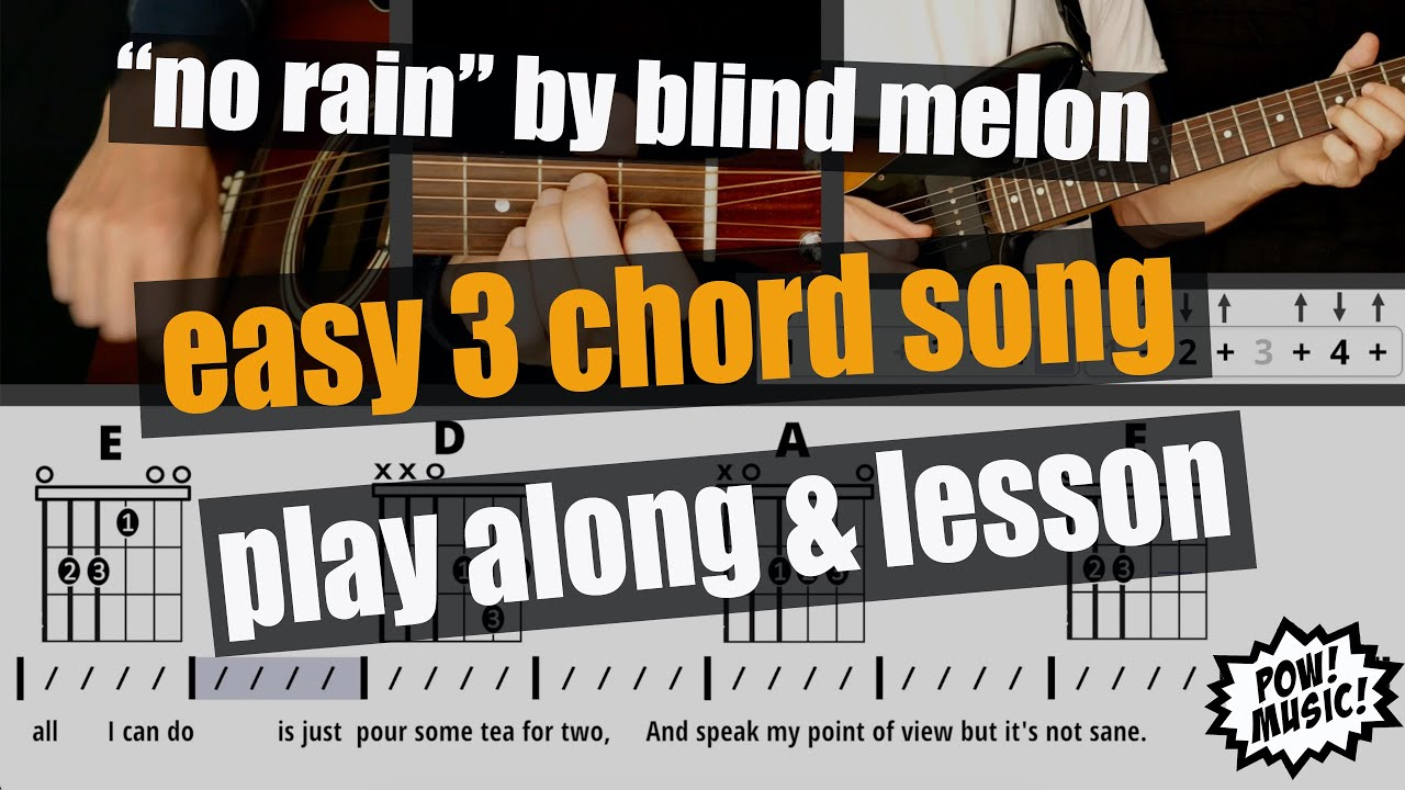 """15 Levels of """"No Rain"""" Strumming Play Along & Lesson   Easy 15 Chord Song    by Blind Melon"""