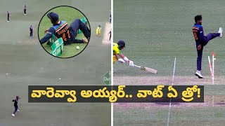 Ind vs Aus 2nd ODI : Shreyas Iyer's Direct Hit To Dismiss David Warner | Oneindia Telugu