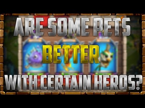 Some Pets Are Better On Certain Heroes!!!! Castle Clash