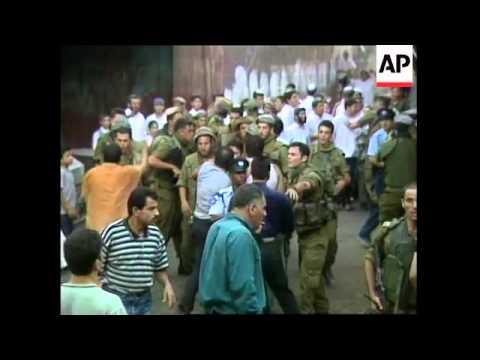 WEST BANK: HEBRON: JEWS \u0026 PALESTINIANS CLASH
