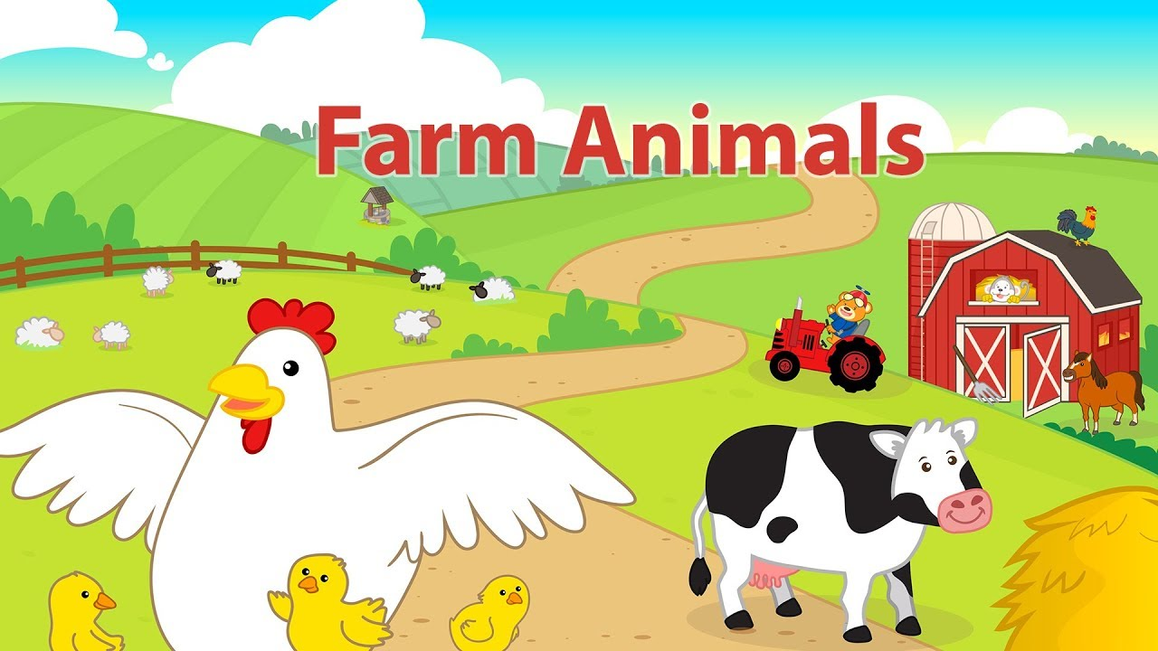 Learn Farm Animals Name and Sound for Toddlers, Preschoolers and ...