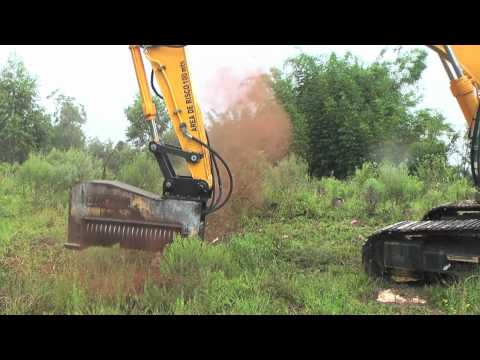 Excavator mulchers - Land clearing equipment - Forestry mulcher - DENISCIMAF.com
