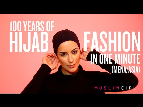 100 Years of Hijab Fashion in 1 Minute (MENA/Asia)