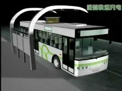 The supercapacitor electric bus is adopted in China