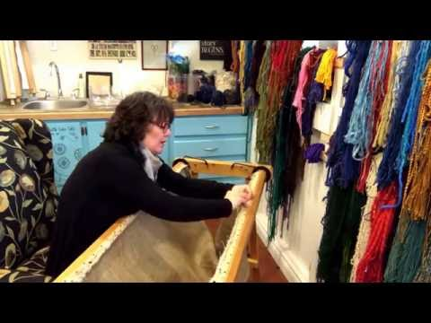How To Set Up A Cheticamp Frame And A Story About Cheticamp Rugs