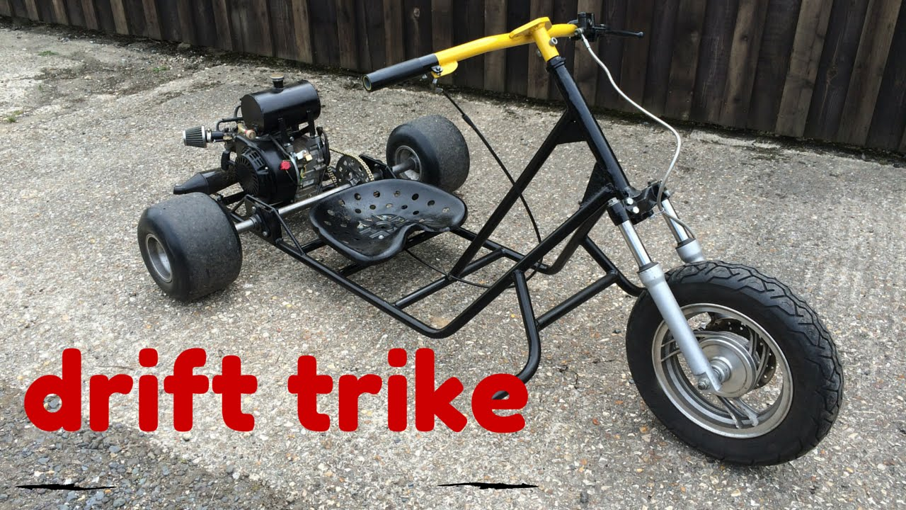 Homemade Drift Trike :: First drive fully assembled! - YouTube