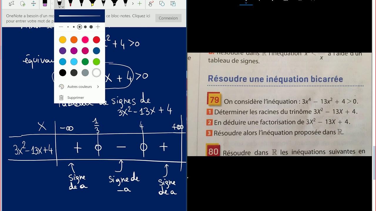Second degré - 1ère S - Exercices corrigés. e - YouTube