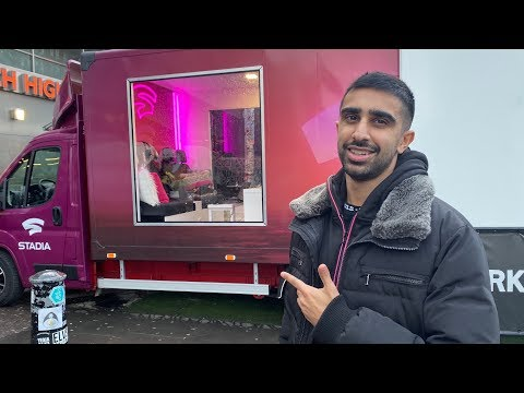 Livestreaming from a Google STADIA Truck!