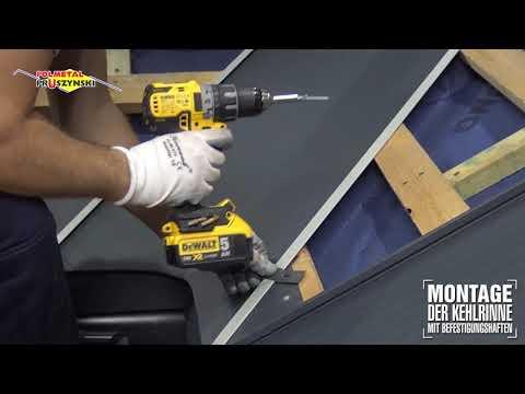Montageanleitung für Dachpaneele mit Stehfalz  - Teil 6