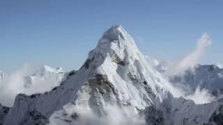 Полет на Эверест, красивейшие виды.