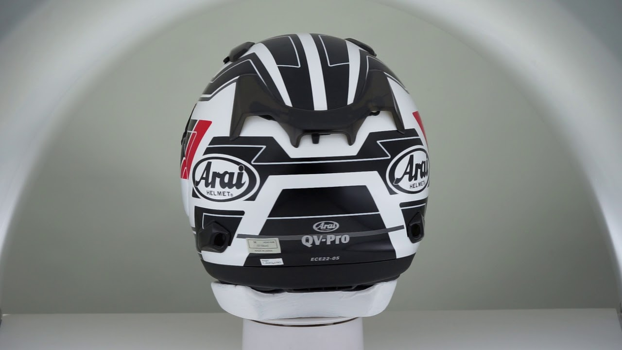 Arai QV-Pro Place White - YouTube ef68c292411
