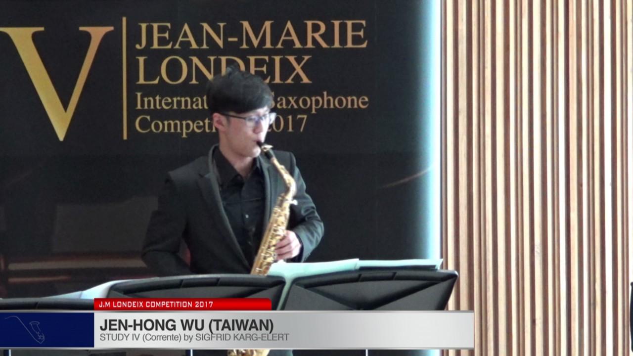 Londeix 2017 - Jen-Hong Wu (Taiwan) - IV Corrente by Sigfrid Karg Elert