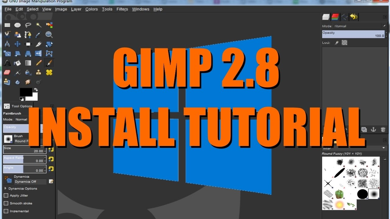 Gimp online image editor and paint tool.