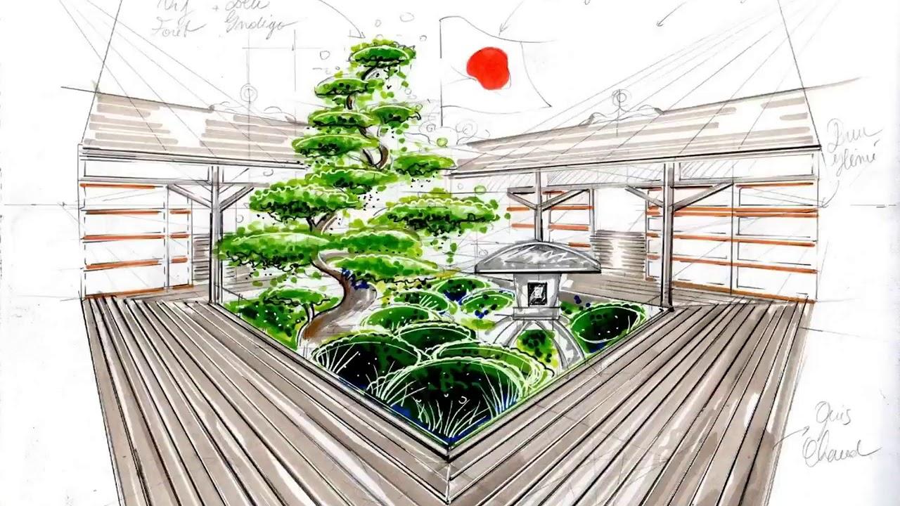apprendre le dessin de jardin la mise en couleur des. Black Bedroom Furniture Sets. Home Design Ideas