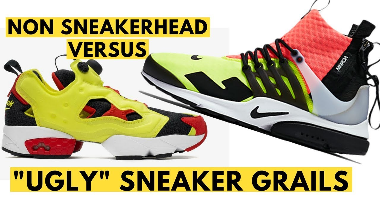 0e91e9fa4f4 Non Sneakerhead Versus Ugly Sneaker Grails - YouTube