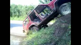 """Bad Idea Day"" #3 Windshield removal, police style / Car almost flips over / Dirt mound climbing"