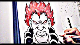 How To Draw AKUMA - Street Fighter