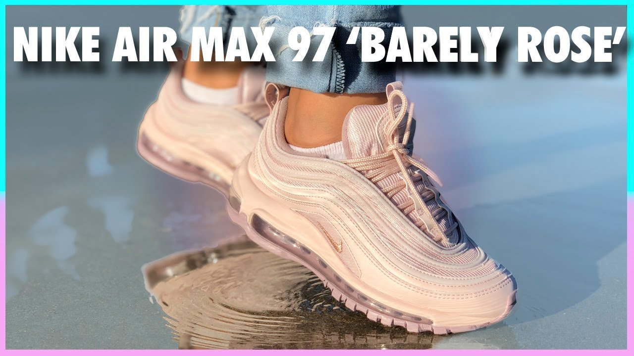 air max 97 barely rose on feet