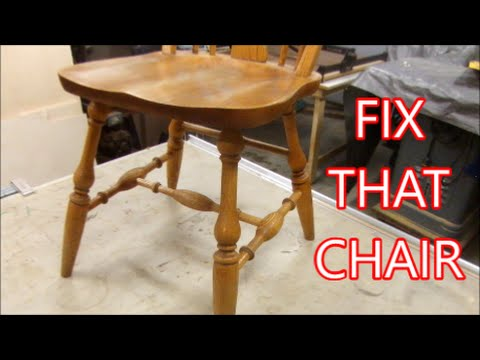 Kitchen Chair Repair How To Make Replacement Parts